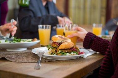 Tasty Burger On Plate