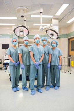 Surgical Team In Scrubs