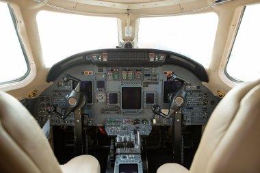 Cockpit Of A Business Jet