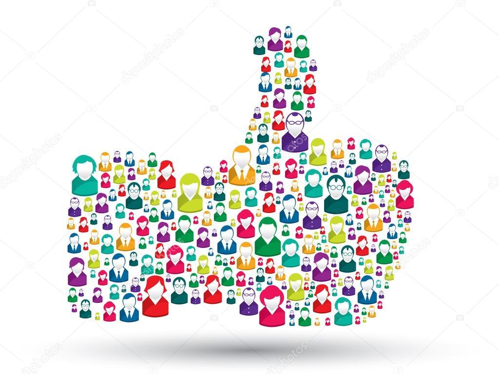 Hand icons of - like