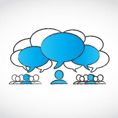 Different ideas speech bubbles