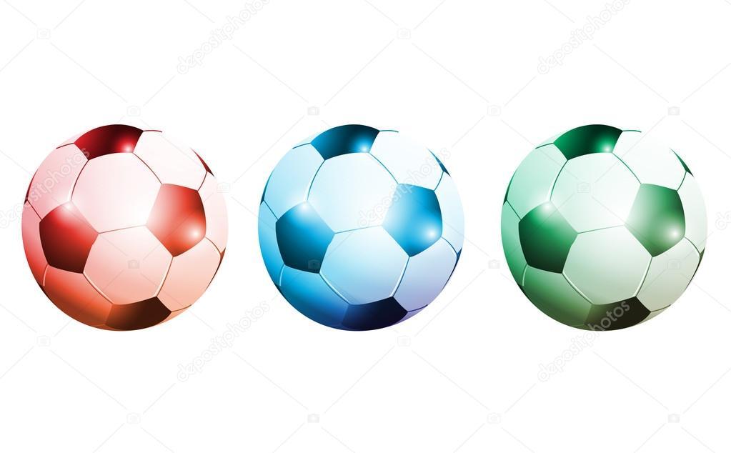 pelota de futbol colores 3D — Archivo Imágenes Vectoriales ...