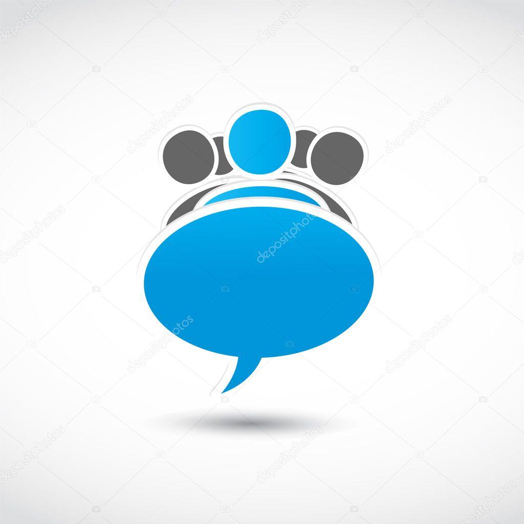 Social media speech bubble group