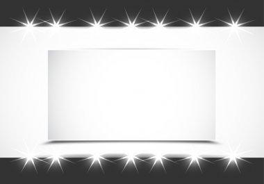 Shiny showcase vector illustration background stock vector