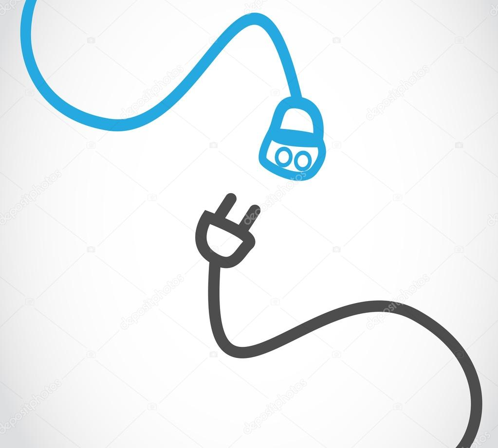 Electric cables vector illustration