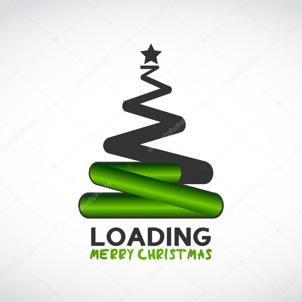 Christmas tree made from loading symbol stock vector christmas tree made from loading symbol abstract vector background vector by burakowski biocorpaavc Image collections