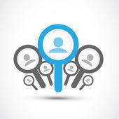 najít zaměstnání, koncept hledání zaměstnání