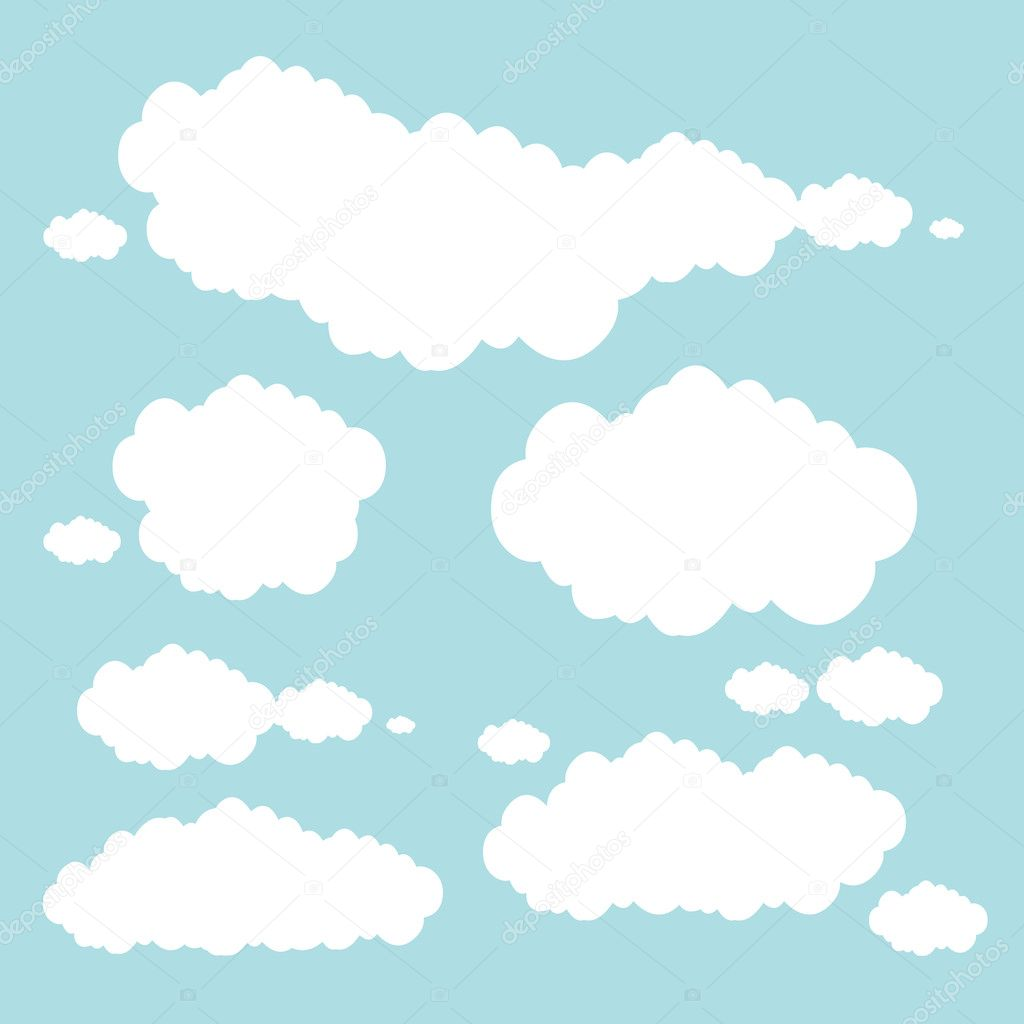 Soft blue clouds
