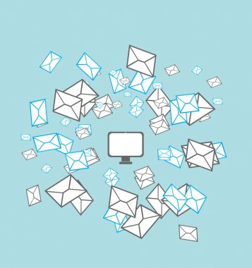 Mailing list concept vector