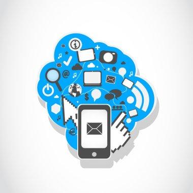 Smartphone social media icons