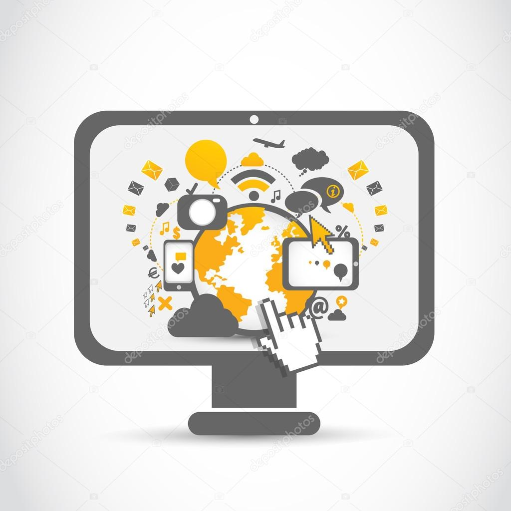 Network community web technologies — Stock Vector ...