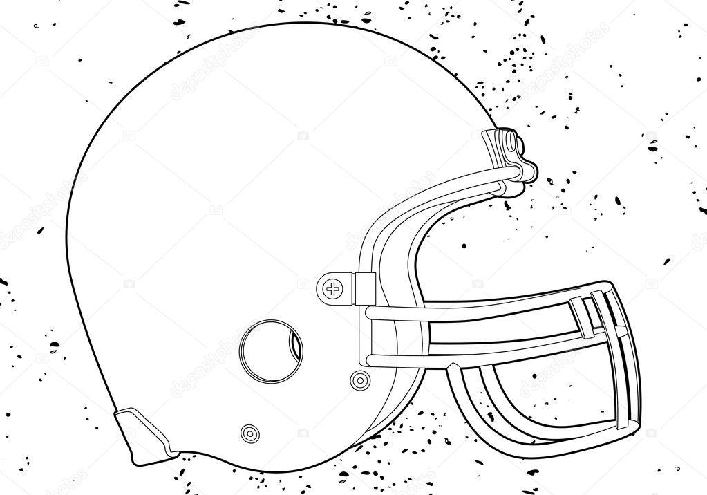 casco de fútbol americano — Archivo Imágenes Vectoriales © Chisnikov ...