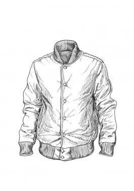 Baseball jaket on white background stock vector