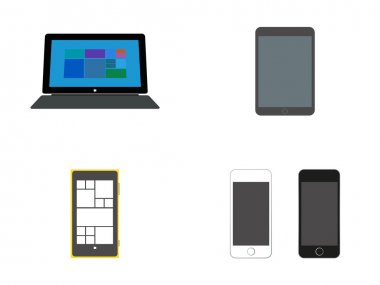 Mobile devices: Tablet with Keyboard, Tablets and Smart Phones