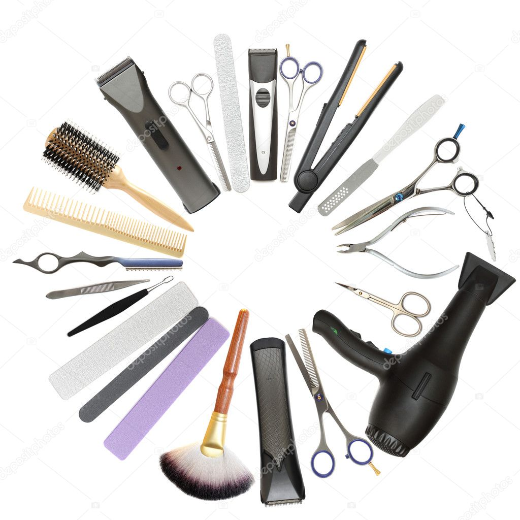 Beauty salon and barbershop background