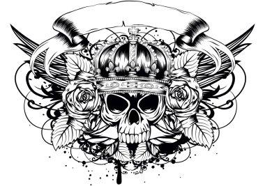 skull corona roses
