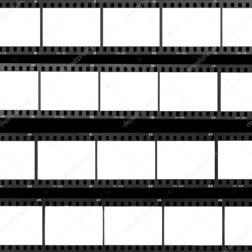 Contacta con fotogramas de la película en blanco de la hoja — Fotos ...