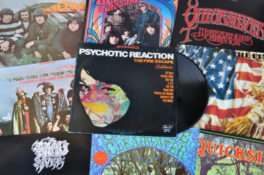 Psychedelic rock vinyl records