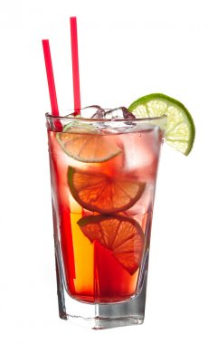 Red alcoholic coctail