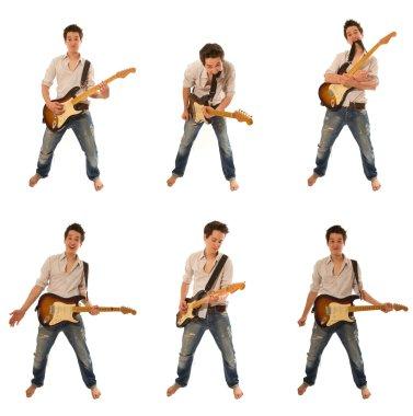 Guitarist in a shirt