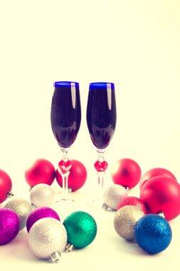 goblet, wine, spirits for Christmas