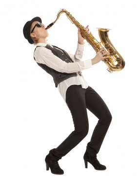 Woman Saxophonist