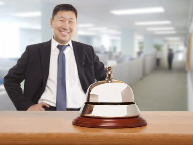 Asian hotel concierge