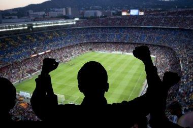 Happy soccer fans