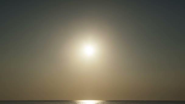 Sunset over sea. Timelapse