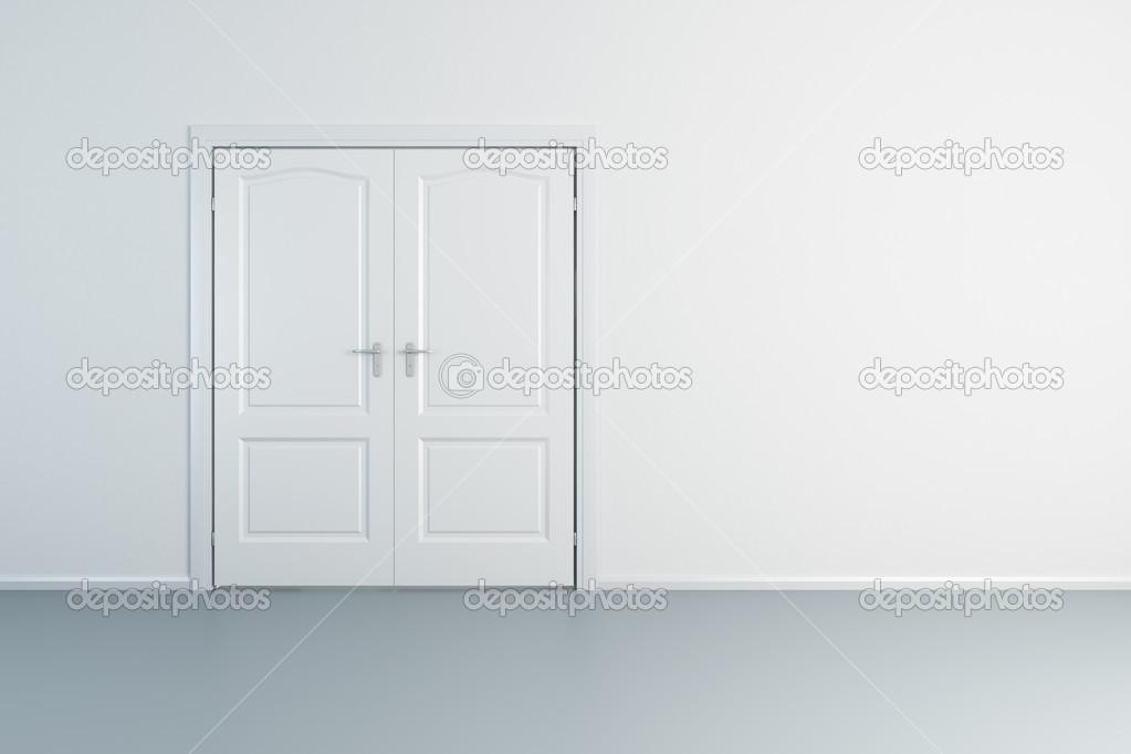 leerer weißer Raum mit geschlossenen Tür — Stockfoto © auriso #36288917