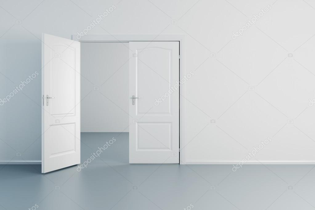 Empty white room with opened door u2014 Stock Photo #36288923 & empty white room with opened door u2014 Stock Photo © auriso #36288923 pezcame.com