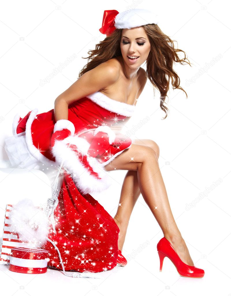Hot santa claus girl