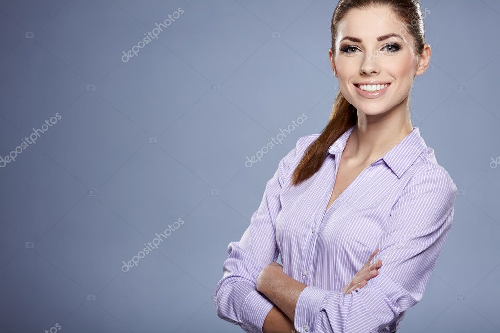 Cute young business woman