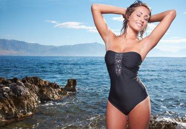 Sexy young womans body in bikini
