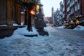 Fotografie staré město v Gdaňsku, Polsko
