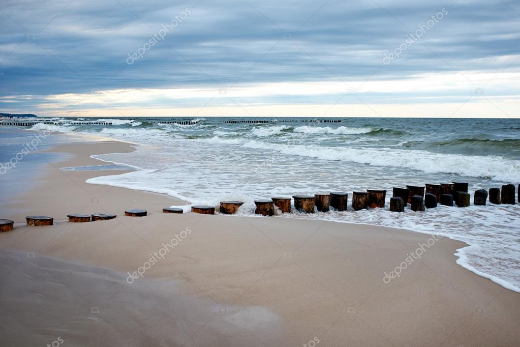Coast of the Baltic Sea in spring