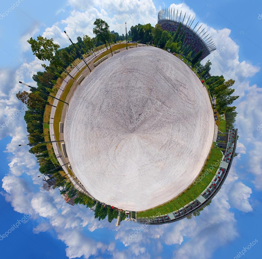 little planet - spherical panoramic view