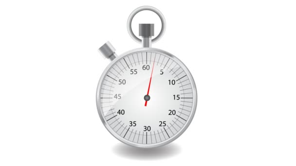 Arrow moving on the dial stopwatch