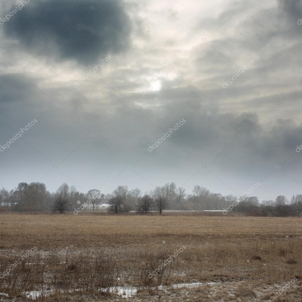 Landscape in cold weather