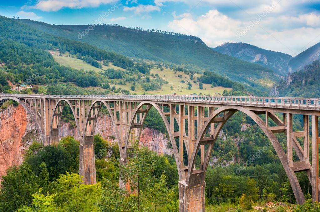 Ponte durdevica e mostra la gola del fiume tara foto for Piani di progettazione di ponti gratuiti