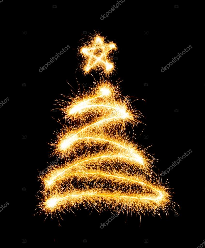 Rbol de navidad hecho por luces de bengala en un negro fotos de stock vlad star 37388237 - Schwarzer weihnachtsbaum ...