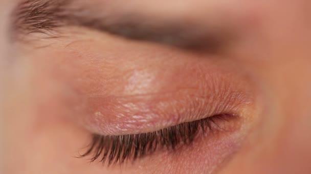 Mens eye closeup