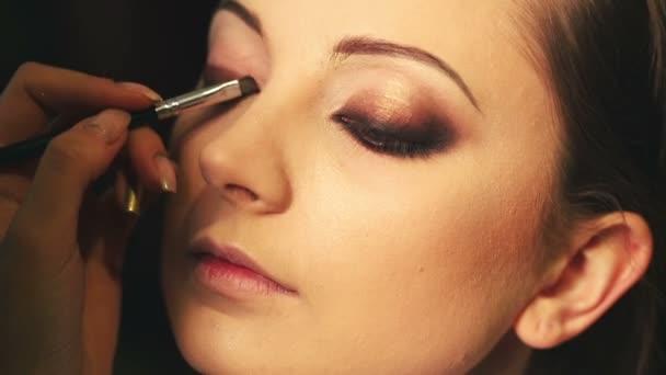 Makeup smokey eye