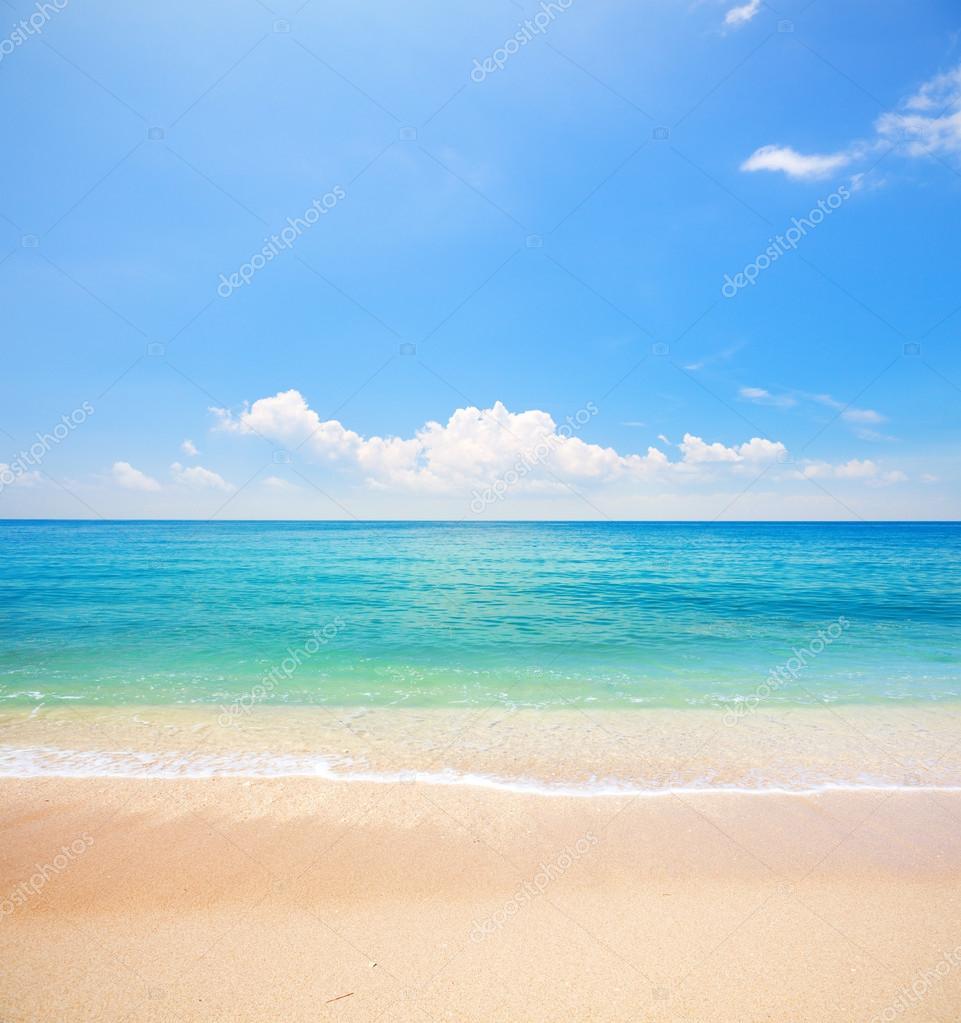 Фотообои beach and tropical sea