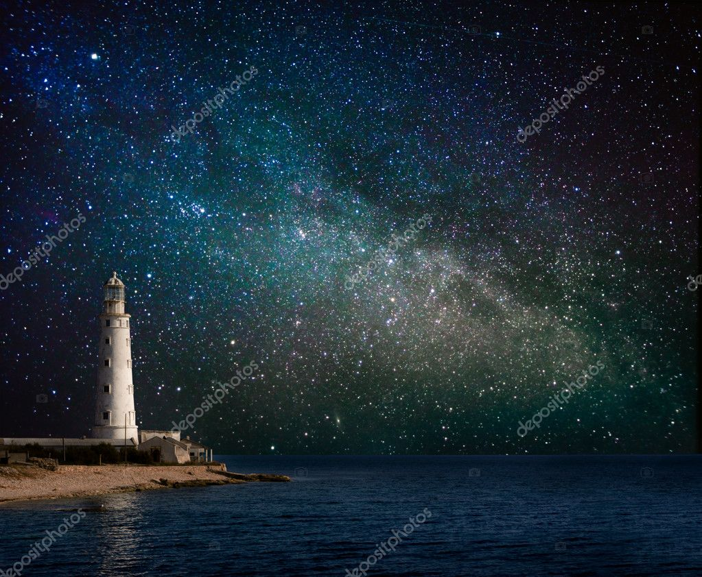 lighthouse at night - 1200×755