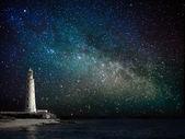 Fotografie maják v noci