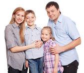 Family on white