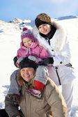 rodina v zimě