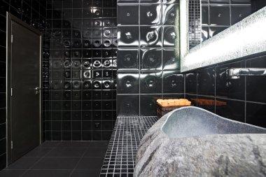 Black restroom