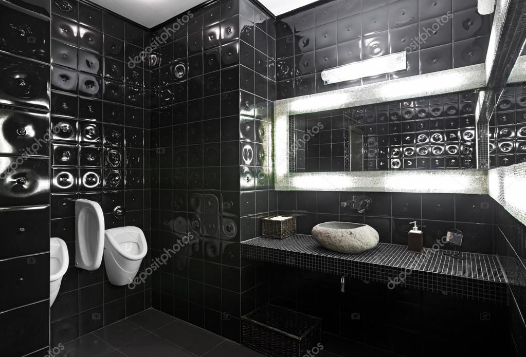 Zwart wit toilet u stockfoto yegorp